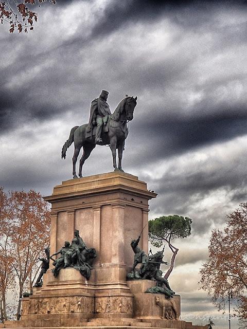 Janiculum - Statuia ecvestrã a lui Giuseppe Garibaldi - blog Foto-Ideea