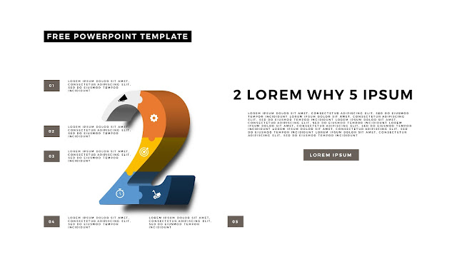 3D Puzzle and Number Infographic Elements for PowerPoint Template Slide 8