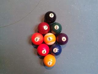 Billardkugeln für 9-Ball