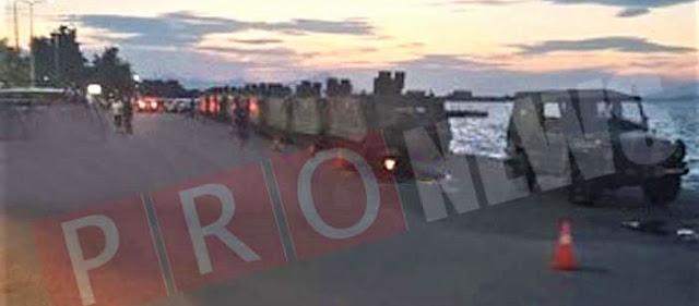 ΕΚΤΑΚΤΟ: Ελληνικές στρατιωτικές δυνάμεις μεταφέρονται στα νησιά του Αιγαίου - Ιερέας ευλογεί όπλα & στρατιώτες (φωτό)