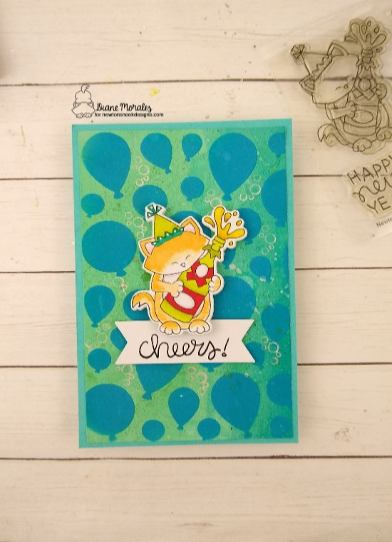 Cheers by Diane features Balloon, Newton's New Year, and Frame & Flags by Newton's Nook Designs; #newtonsnook