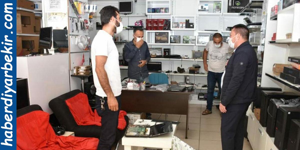 Diyarbakır Bağlar esnafına Covid-19 uyarısı