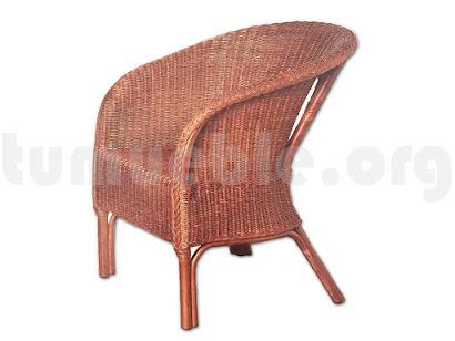 sillón rattan natural j49