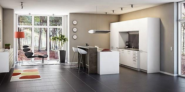 Moderna cocina isla central