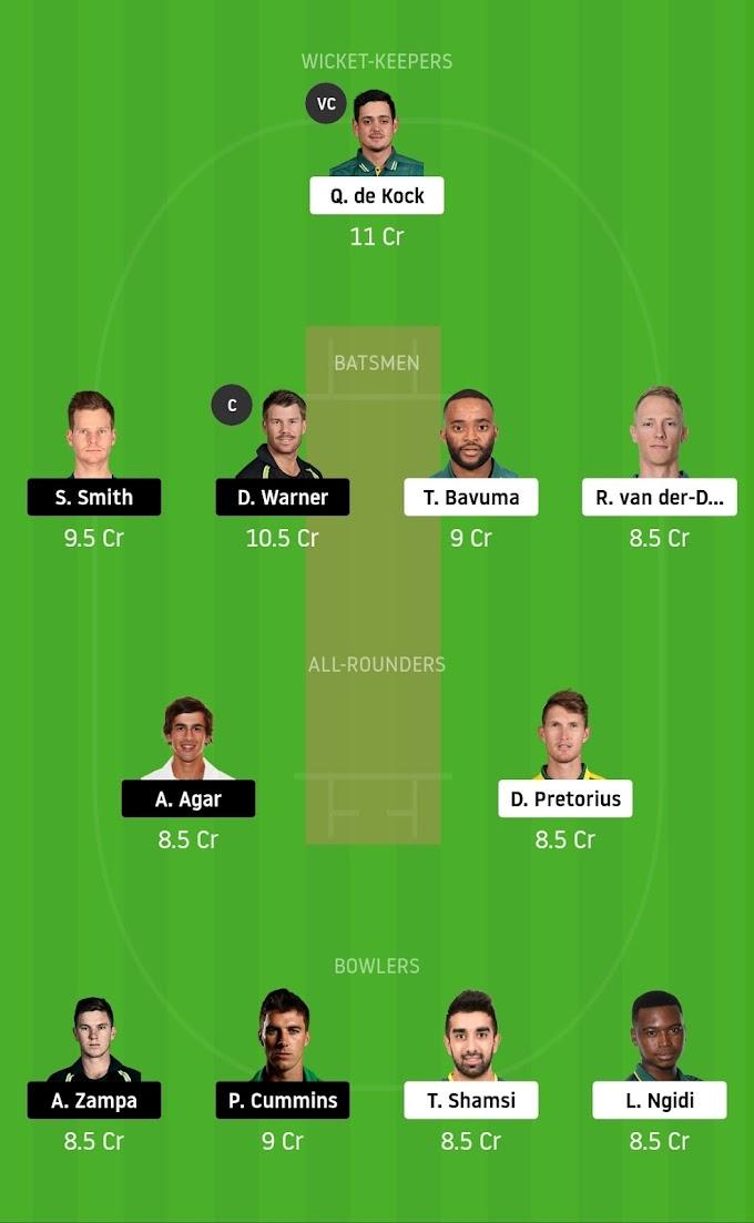 South Africa vs Australia 2020, 3rd T20   Dream11 Fanatasy Tips
