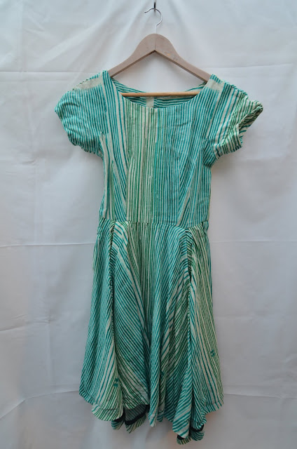 a cotton summer dress on a coathanger
