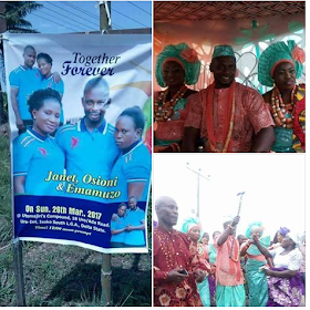 Watch Video From The Wedding Of The Man Who Married 2 Women In Delta State.