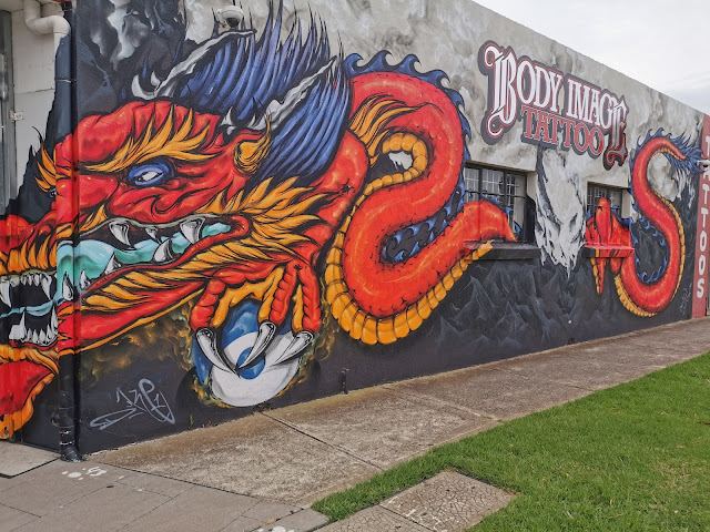 Street art by Dukey Grimo in Laverton at Cody Image Tattooing