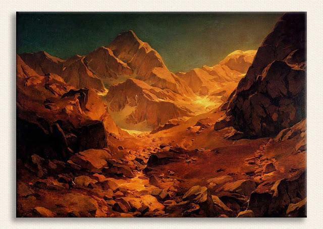 Oswald Achenbach, Dağ Manzarası tablosu