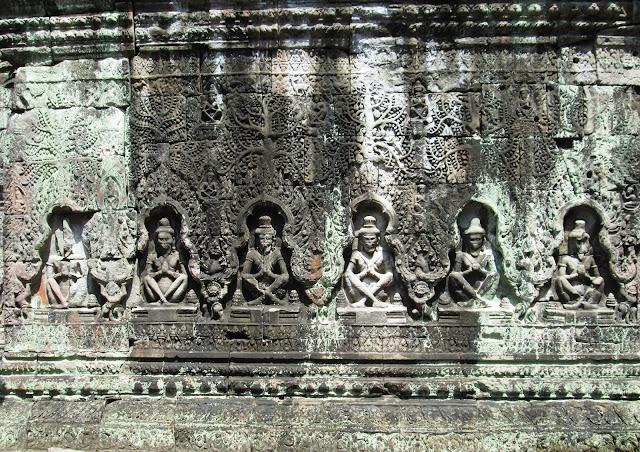 Detalle del templo Preh Khan en Angkor en Camboya
