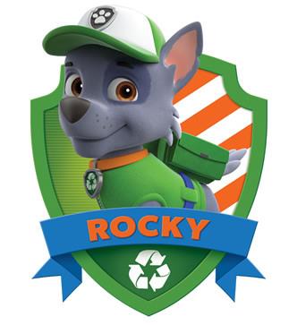 Imagen para imprimir gratis de Paw Patrol o Patrulla Canina de Rocky.
