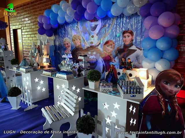 Decoração festa de aniversário infantil Frozen