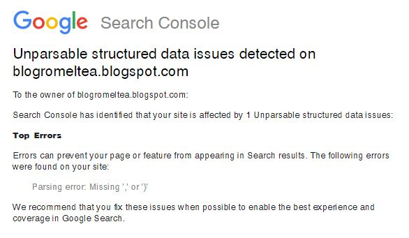 Unparsable structured data