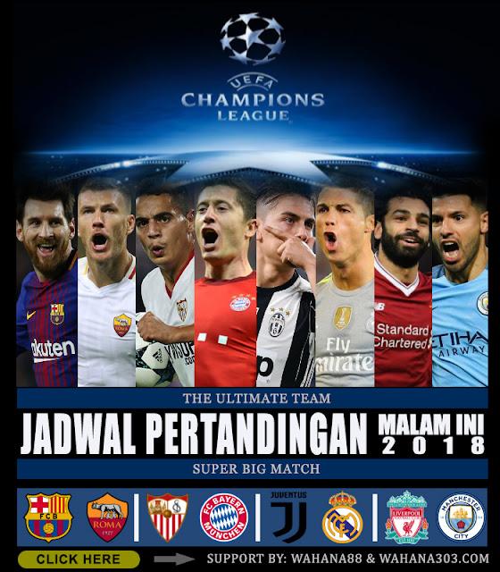 Jadwal Pertandingan dan Pasaran Bola, Minggu 1 April 2018