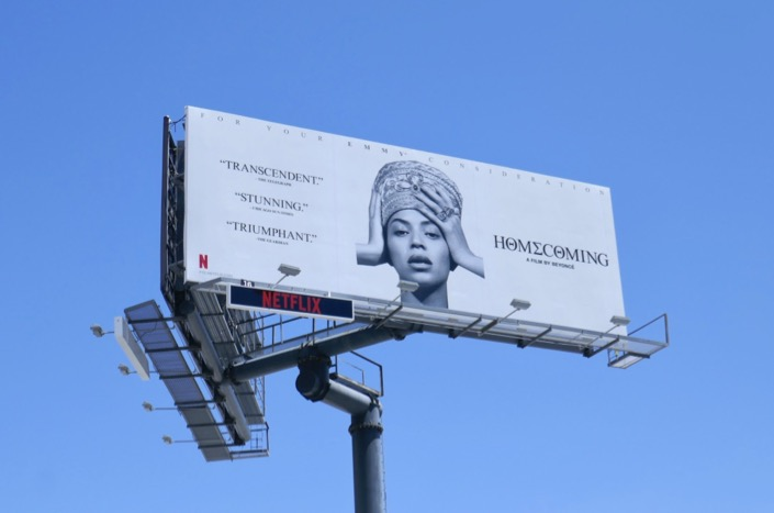 Beyonce Homecoming 2019 Emmy FYC billboard