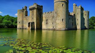 Wallpaper met Bodiam kasteel