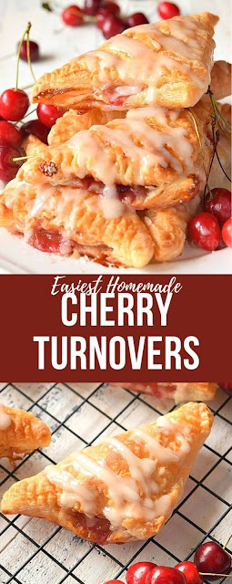 easy cherry pie filling stuffed cherry turnovers