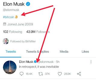 Harga Bitcoin Naik Gegara Bio Twitter Elon Musk