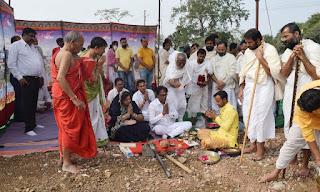 श्री आदिवीर जैन पाठषाला स्कूल भवन हेतु भूमि पूजन किया गया