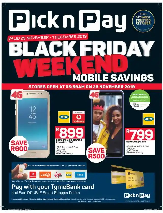 Updated 2019 Pick N Pay Cellphone Black Friday Deals