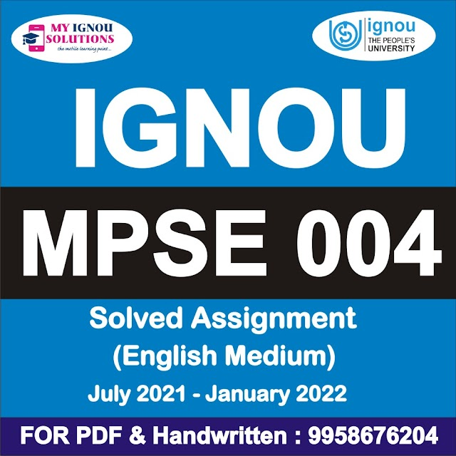 MPSE 004 Solved Assignment 2021-22