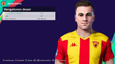 PES 2021 Faces Gabriele Moncini by Rachmad ABs