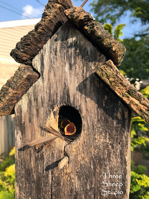 Rustic, old birdhouse !