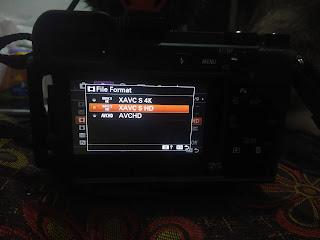 foto menu sistem sony