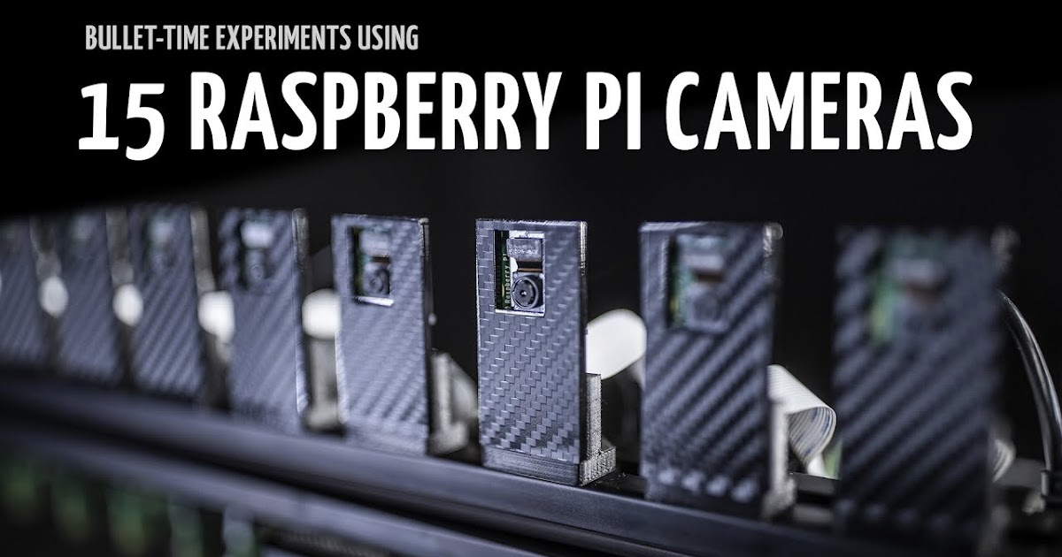 Bullet-time experiments using 15 Raspberry Pi cameras