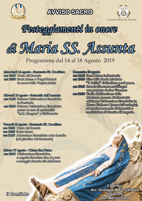 Festeggiamenti in onore di Maria SS. Assunta 2019