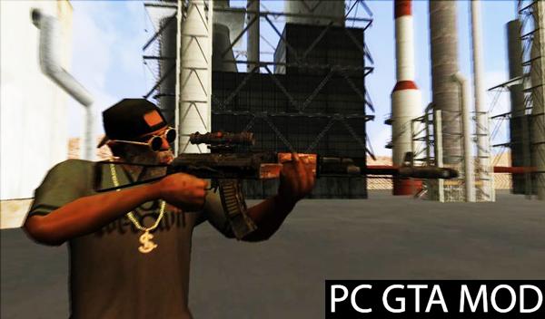 Free Download Exodo Metro Ak47  Mod for GTA San Andreas.