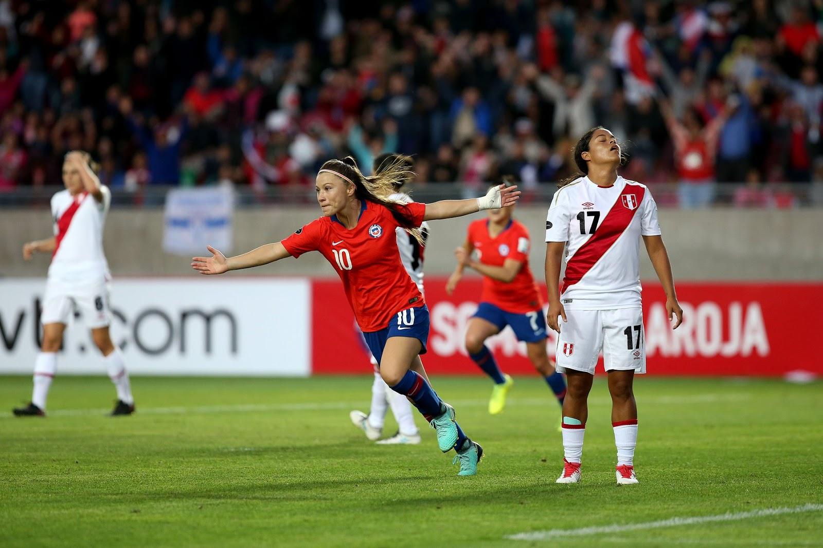 Chile y Perú en Copa América Femenina 2018, 12 de abril