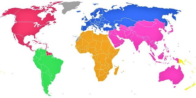 Gambar Peta Buta Dunia