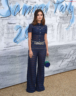 Jenna Coleman in beautiful Blue See Through Jumpsuit ~ bollycelebs.in Exclusive Celebrity Pics 003