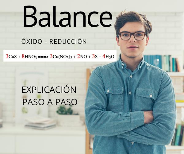 Balanceando por REDOX CuS + HNO3 => Cu(NO3)2 + NO + S + H2O