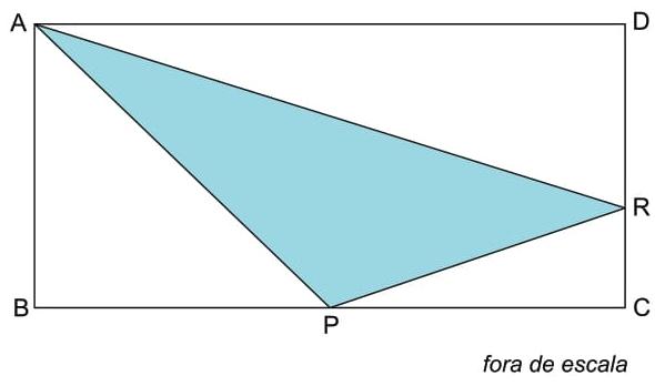 Sabendo-se que AB = 3 cm, AD = 6 cm e PR = √10 cm, a área do triângulo APR é igual a
