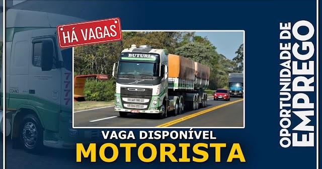 Transportadora Buturi abre vagas para Motorista de São Paulo e Paraná