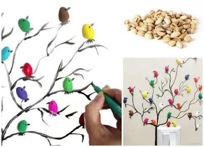 Cómo hacer árboles decorativos con cáscaras de pistachos