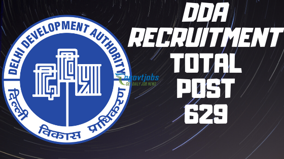 DDA Recruitment 2020 - 629 Director Jobs - Inidan Govt ...