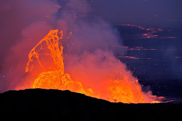 Democratic Republic of Congo, the Nyiragongo is a picturesque 3,470m high volcano, the most active in the region.