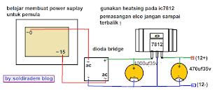 ini merupakan skema power suplay menggunkan ic 7812