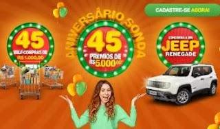 Promoção Aniversário Sonda 2019 - 45 Vale Compras Mil Reais e 1 Jeep 0KM