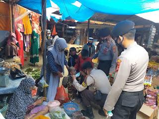 Satuan Sabhara Polres Enrekang Laksanakan Operasi Yustisi Penertiban Penggunaan Masker