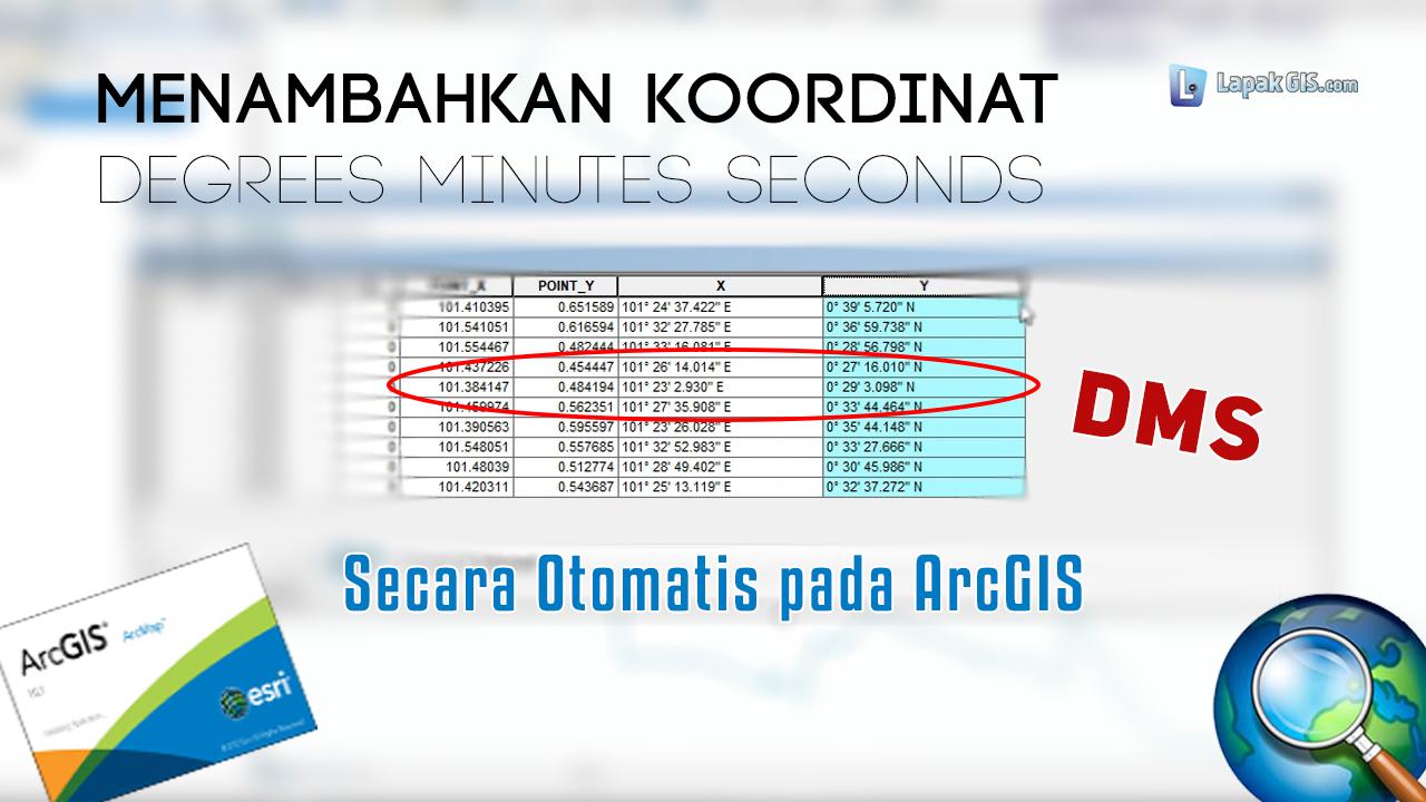 Cara Menambahkan Koordinat DMS pada Attribute Tabel Arcgis