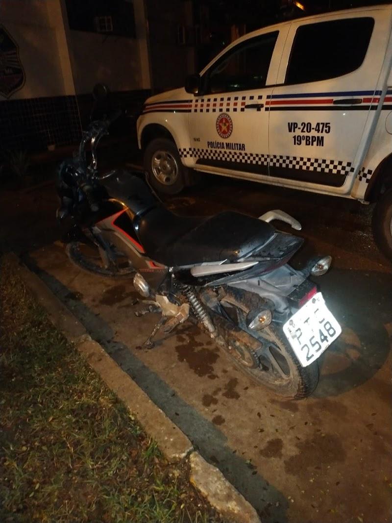 Polícia Militar recupera em 10 minutos motocicleta roubada em Trizidela do Vale.