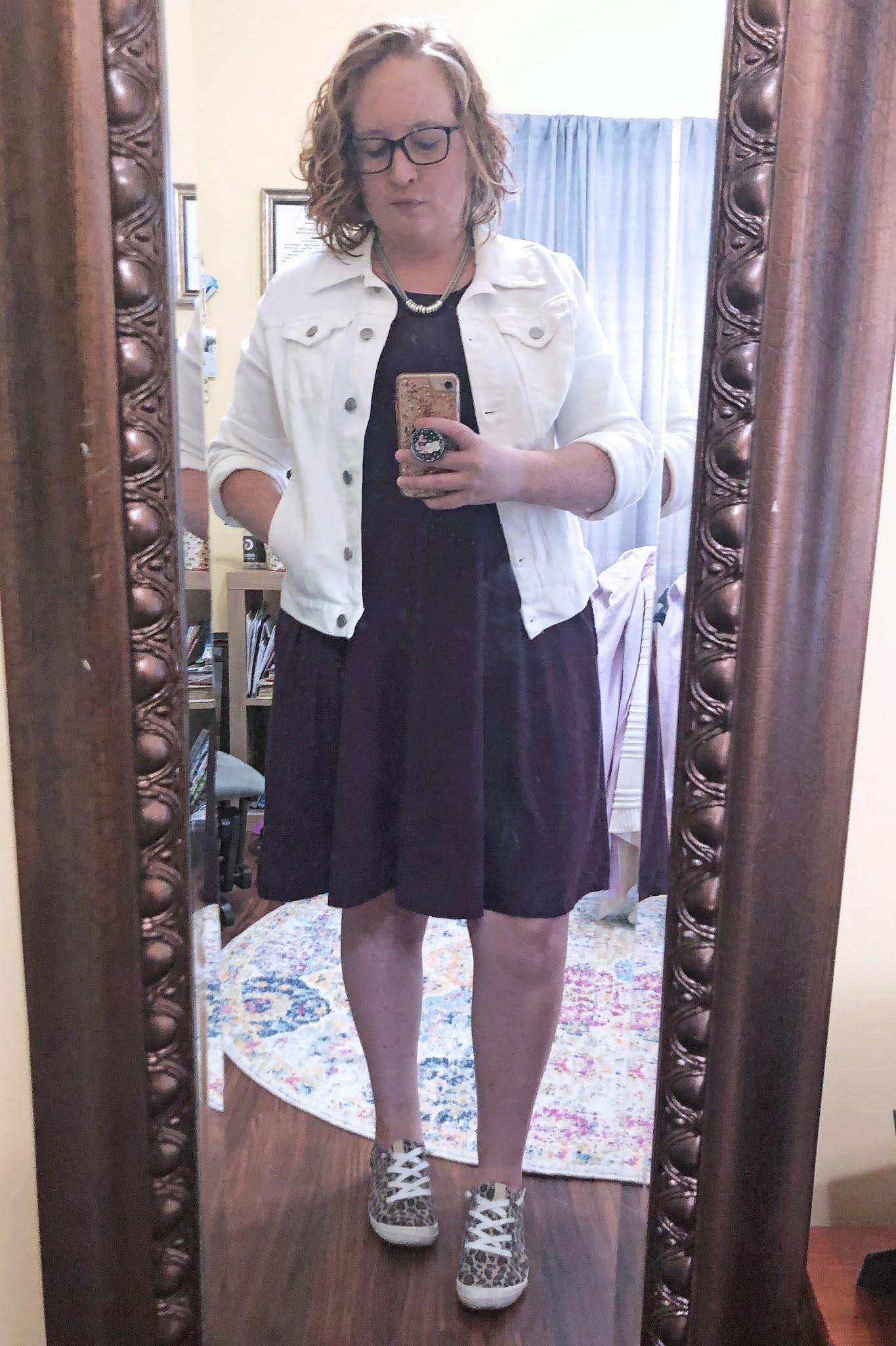 purple-tank-dress-white-jean-jacket