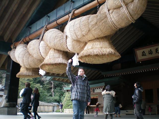 Ritual de la moneda en el templo de Izumo Taisha