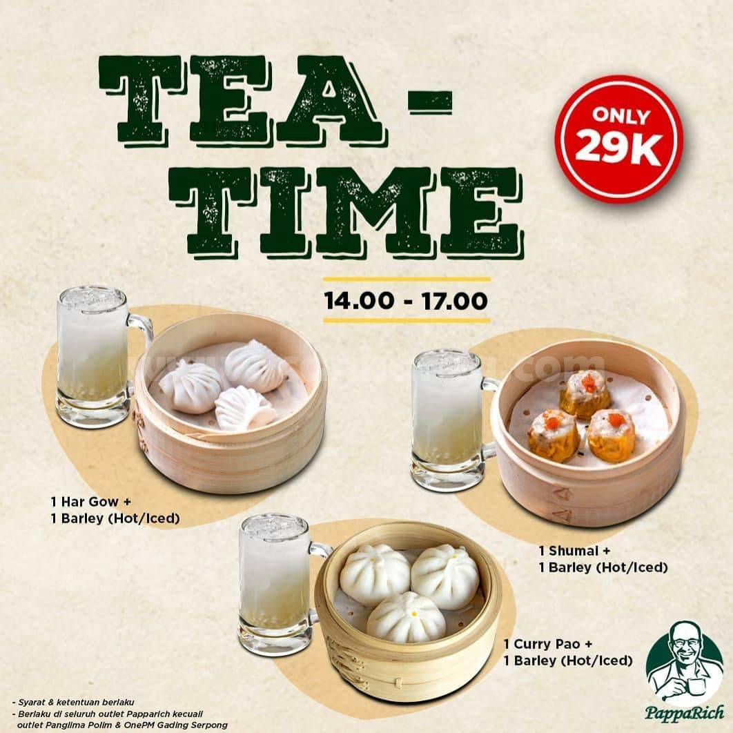 Papparich Promo Harga Spesial TEA TIME hanya Rp 29.000