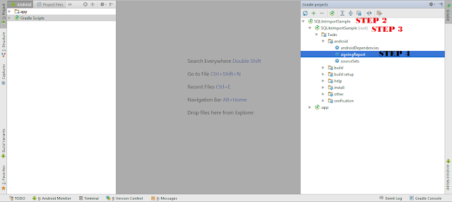 Android Tips - How to get SHA1 key in Android Studio without CMD