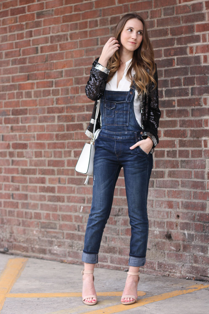 How to Wear Overalls: Sequins and Overalls + #WIWT ...
